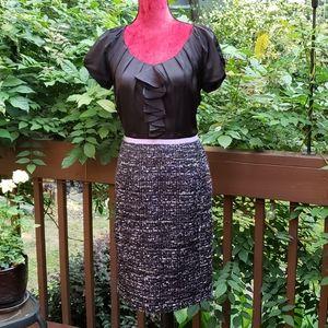 Jones New York Black & Tweed Dress Size 8